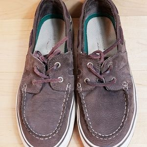 Mens G.H. Bass Co. Casual Boat Shoes Size 7D Brown